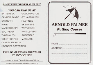 Scorecard from the Arnold Palmer Putting Course in Skegness