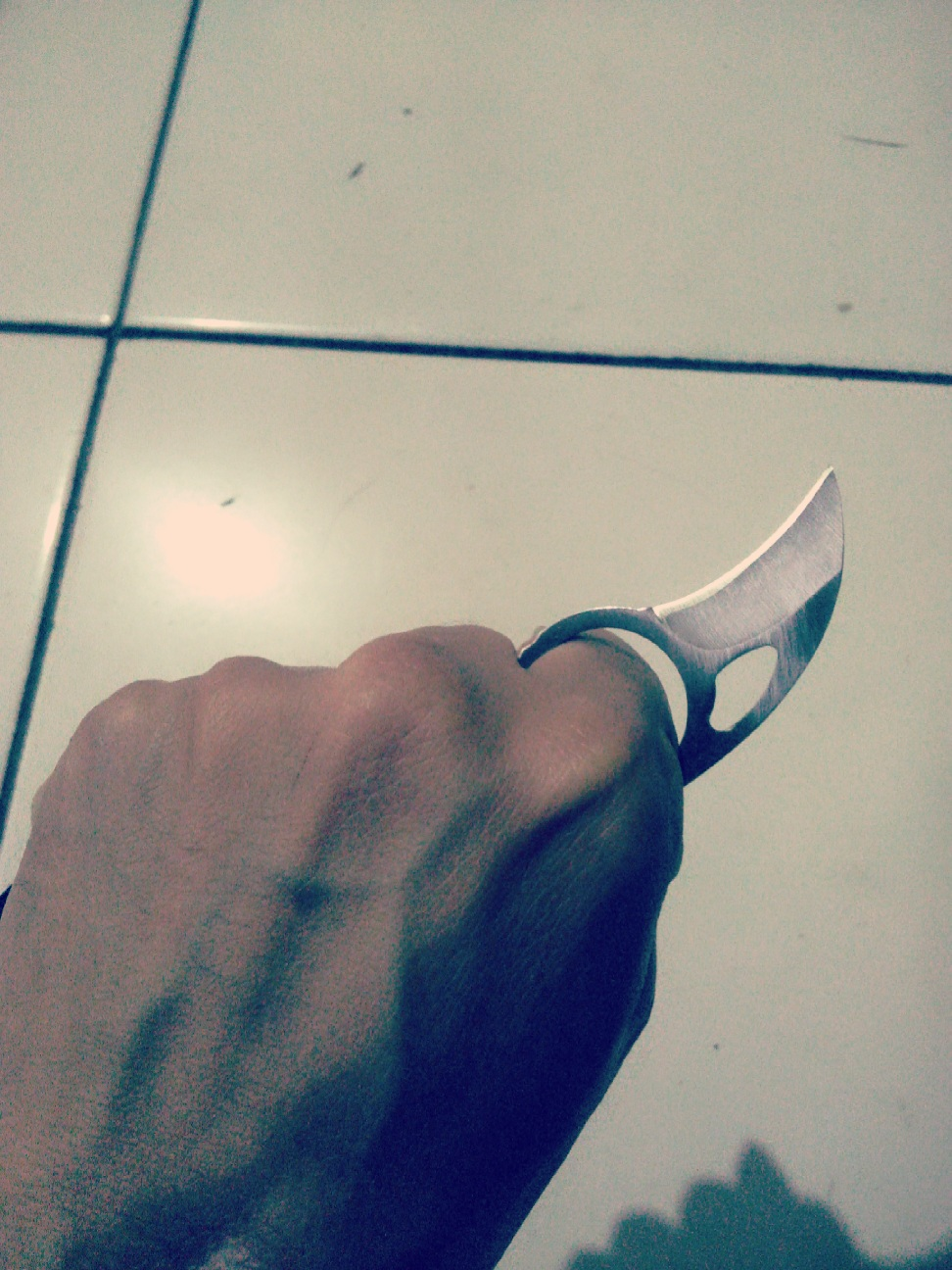 JUAL CURVED BALISONG, TRENCH KNIFE, KERAMBIT MURAH