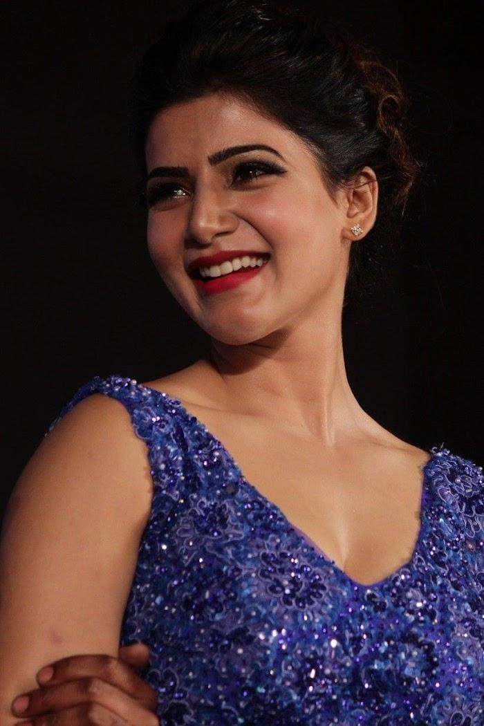 samantha Ruth In Movie Function hotty Blue velvet like a Vintage Girl