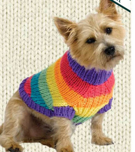 Knitting Pattern For A Jumper For A Dog : Miss Julias Patterns: Free Patterns - 20+ Dog Sweater Coats to Knit &...