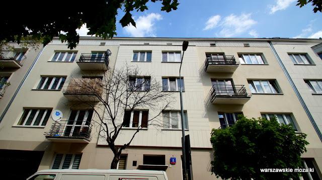 Warszawa Warsaw lata 30. Mokotów kamienica architektura modernizm