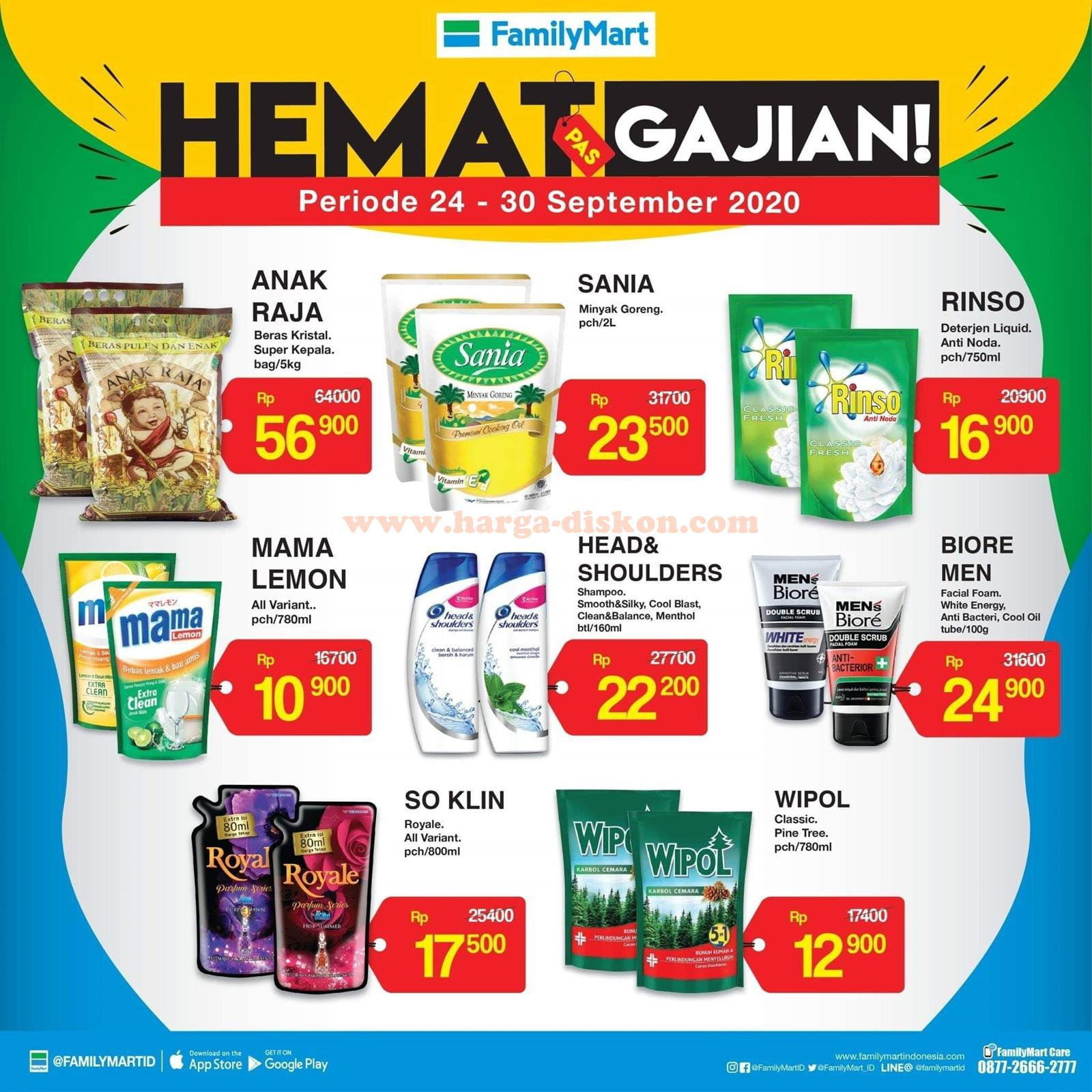 Promo Family Mart Terbaru Hemat Gajian Periode 24 30 September 2020 Harga Diskon