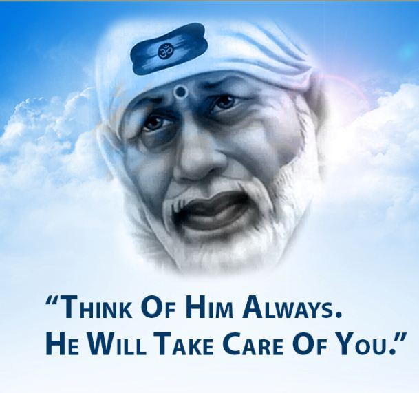 Sai Baba Image with Quotes