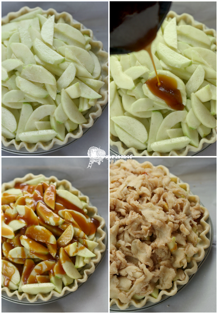 apple filling and apple whiskey caramel sauce