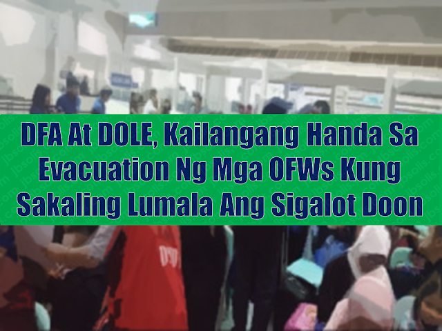 "The Philippine government is mulling for repatriation of millions of OFWs in Saudi Arabia due to risk involving the kingdom's conflict with Yemen.  ""Saudi Arabia is home to over a million overseas Filipino workers (OFW)—the biggest in the Middle East—who could be at risk in case the situation between Yemen and Saudi Arabia deteriorates,""  -Congressman Winston Castelo, QC  Advertisement        Sponsored Links     The vice chairman of the House committee on the welfare of Overseas Filipino Workers (OFW) aired confidence that evacuation of over a million OFWs in missiles-threatened Saudi Arabia will be a ""routine exercise"" among concerned agencies, thus, will be swift and efficient.  Nevertheless, Quezon City Rep. Winston Castelo asked the Department of Foreign Affairs and the Department of Labor to get ready for the repatriation of OFWs in Saudi which has been the target of a series of missile attacks from neighboring Yemen.    Castelo said the DFA and DOLE should always be ready for situations like this even as he asked the two departments to provide the public an update on the situation and ascertain the safety of Filipinos in the Saudi capital.  He noted that this is not the first time that Saudi Arabia had been fired upon by Yemeni rebels who had taken over the government in the poorest country in the Middle East.    He stressed that the DFA and DOLE should have maintained an inventory of OFWs in critical areas in Saudi Arabia so that they could be alerted at a moment's notice.         Read More:  Look! Hut Built For NPA Surrenderees  Cash Aid To Be Given To Displaced OFWs From Kuwait—OWWA  Skilled Workers In The UAE Can Now Have Maximum Of Two Part-time Jobs    Former OFW In Dubai Now Earning P25K A Week From Her Business    Top Search Engines In The Philippines For Finding Jobs Abroad    5 Signs A Person Is Going To Be Poor And 5 Signs You Are Going To Be Rich    Tips On How To Handle Money For OFWs And Their Families    How Much Can Filipinos Earn 1-10 Years After Finishing College?   Former Executive Secretary Worked As a Domestic Worker In Hong Kong Due To Inadequate Salary In PH    Beware Of  Fake Online Registration System Which Collects $10 From OFWs— POEA    Is It True, Duterte Might Expand Overseas Workers Deployment Ban To Countries With Many Cases of Abuse?  Do You Agree With The Proposed Filipino Deployment Ban To Abusive Host Countries?    ©2018 THOUGHTSKOTO  www.jbsolis.com"