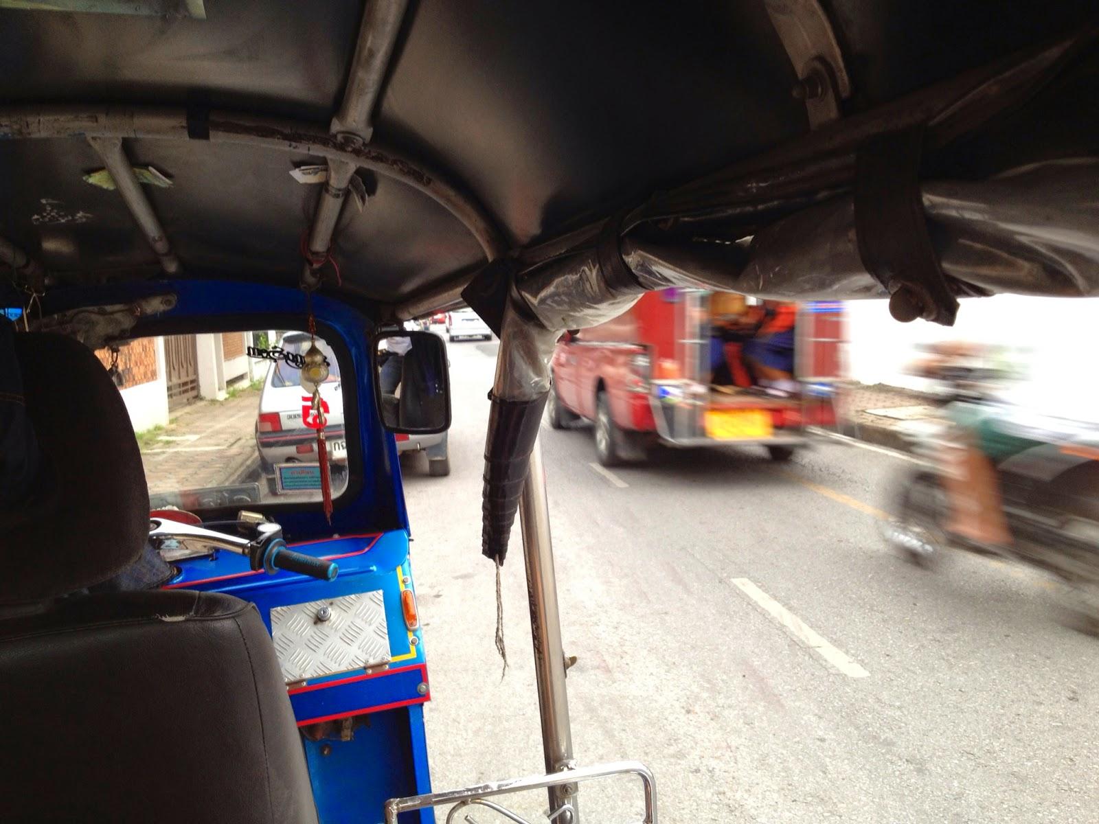 Chiang Mai - We took a tuk tuk and zipped through town