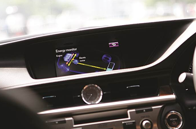 Lexus electric car model dashboard
