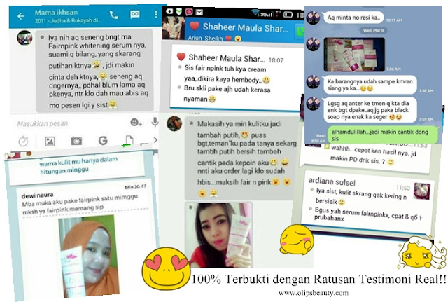 Testimonial Fair N Pink Serum Body Whitening