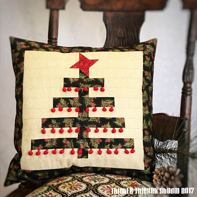 Oh Lil Christmas Tree Pillow By Thistle Thicket Studio. www.thistlethicketstudio.com