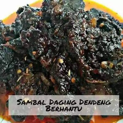 Sambal Daging Dendeng Berhantu.