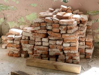 Bricks in the men's room