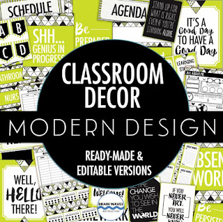 Decor pack for middle school classrooms!