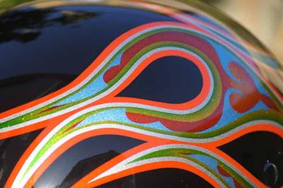 0 - カスタムペイント工程  ダックテールヘルメット 奈良フレイムス