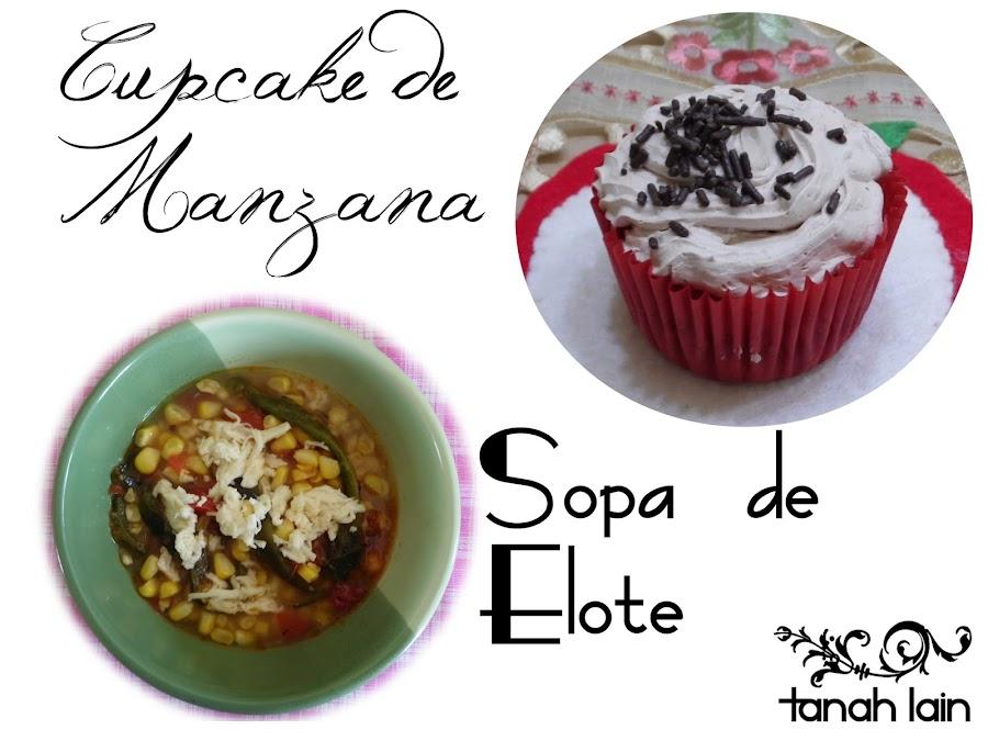 Receta de Sopa de Elote y Cupcakes de Manzana