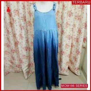 MOM186D17 Dress Overall Hamil 3 Ombre Dresshamil Ibu Hamil
