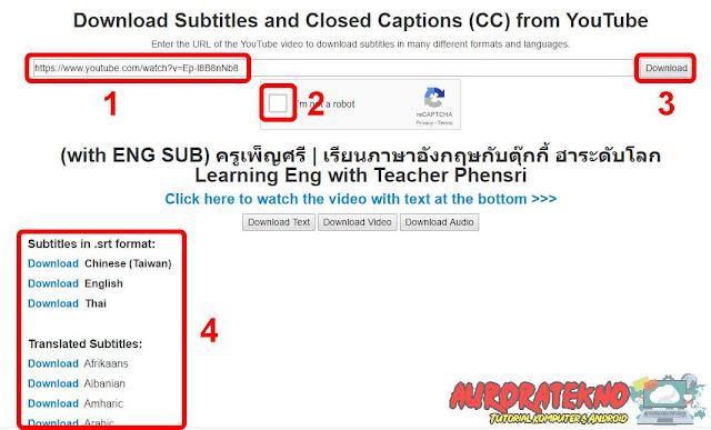 Cara Download Subtitle Di Youtube Dengan Mudah & Cepat