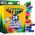 ➫ Crayola Markers 24 count Bulk Pack of Ultra Clean Washable Broad Line Markers, 24 assorted Classic Colors, Gift for Kids and used as poster markers for teachers (24 Colors) ➤ 2019