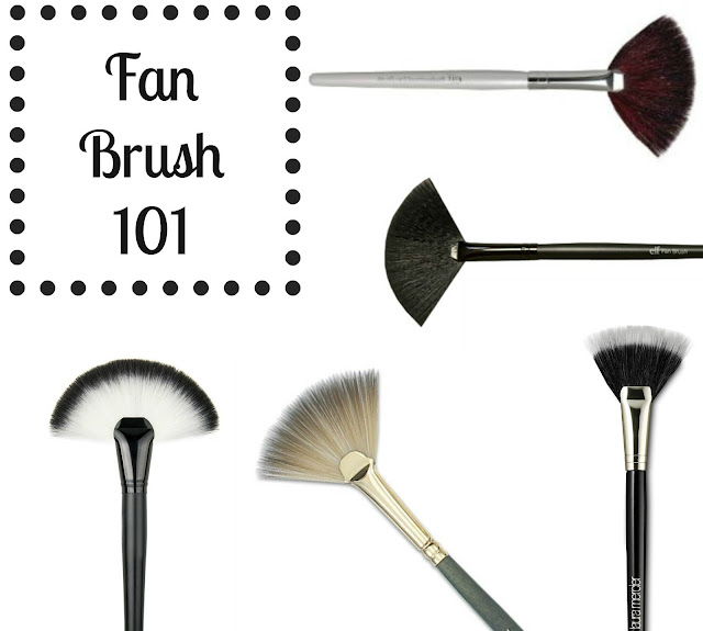 fan brush 101, how to use the fan makeup brush