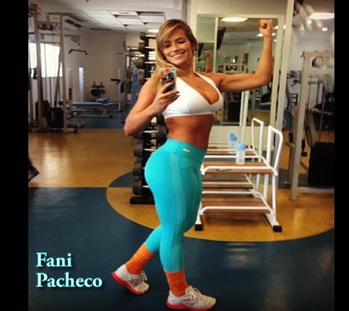 Fani Pacheco hace Ejercicios