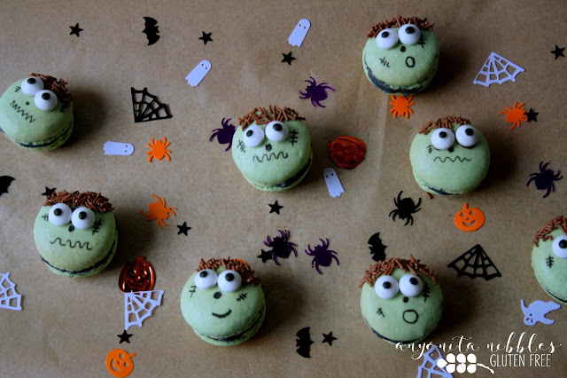 Bring your Halloween party table to life with these fun Frankenstein macarons | Anyonita Nibbles