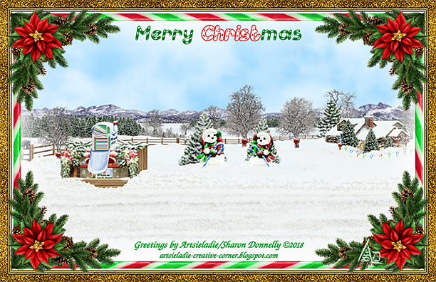 Country Christmas art by/copyrighted to Artsieladie