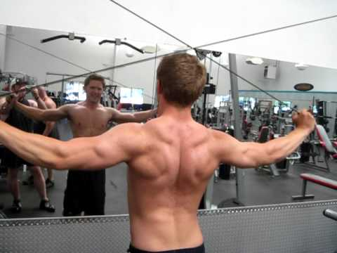 high cable rear delt fly - High Cable Rear Delt Flyes YouTube