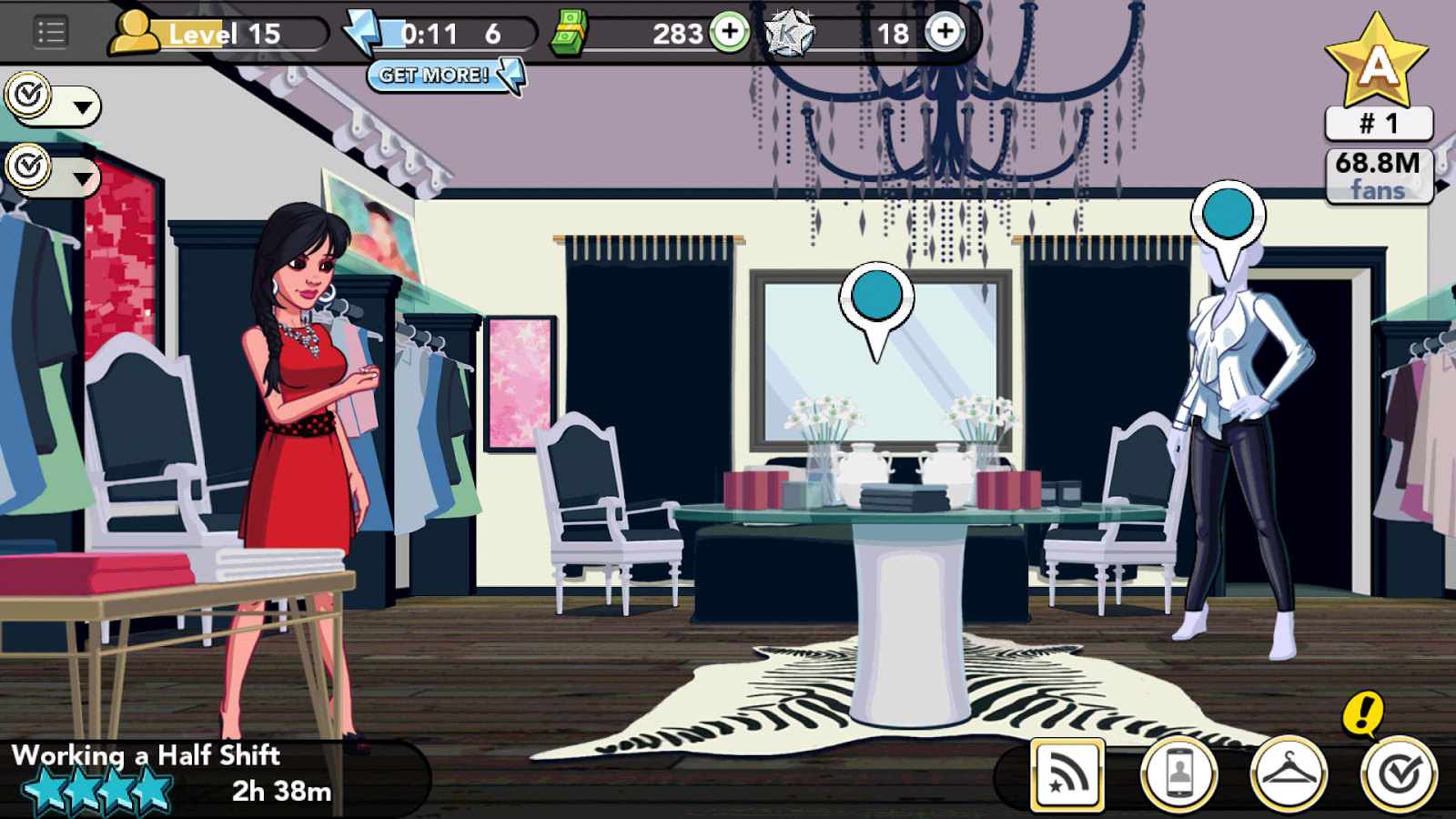 Kim Kardashian: Hollywood game - working at Kardash