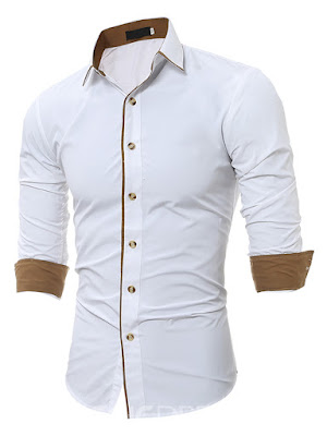 Long Sleeve Unique Slim Men's Shirt