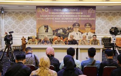 Gubernur Ridho Ficardo Bangun Komplek Observatorium Terbesar di Asia Tenggara