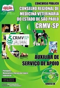 Apostila Conselho Regional CRMVSP Auxiliar de Serviço de Apoio