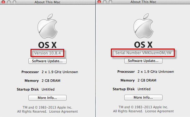 How to change hardware serial number for Mac OS X Guest?