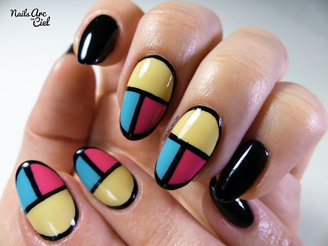 Nail Art - Patchwork de couleurs facile par Nails Arc en Ciel