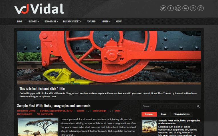 Vidal Free Blogger Template