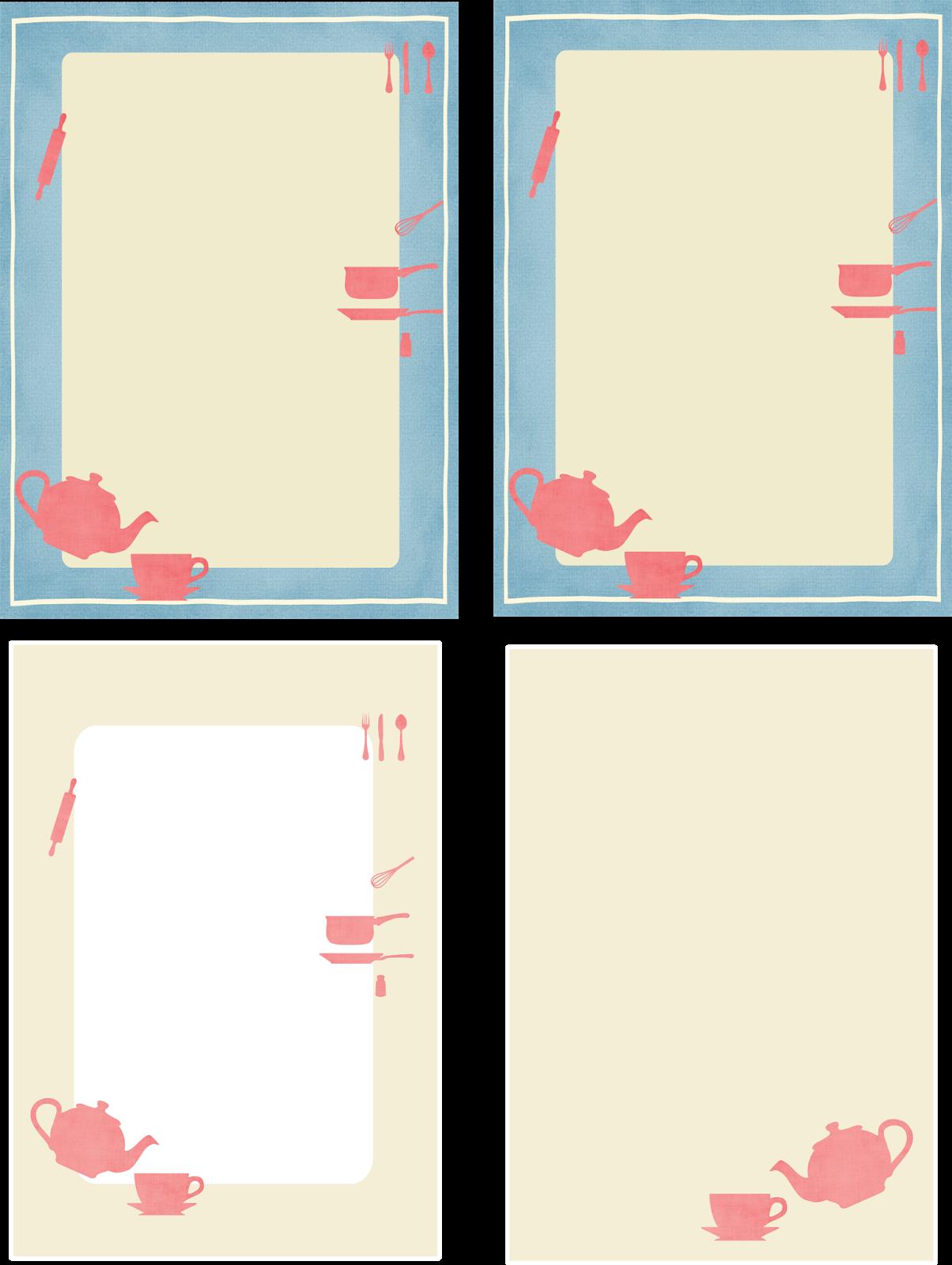 Free Printable Kitchen Stationery