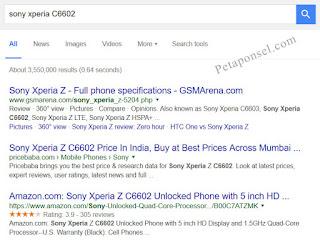 Cara Cek Tipe HP Sony Xperia Asli