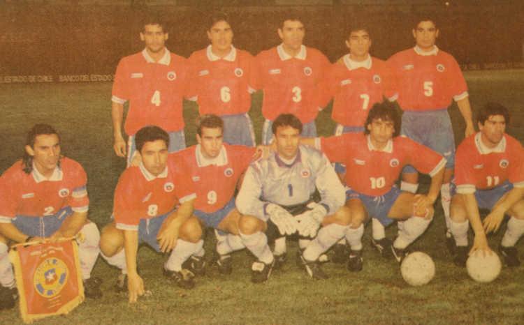 Formación de Chile ante Paraguay, Copa Centenario del Fútbol Chileno, 19 de junio de 1995