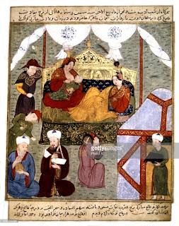 La corte del ilkán de Persia.