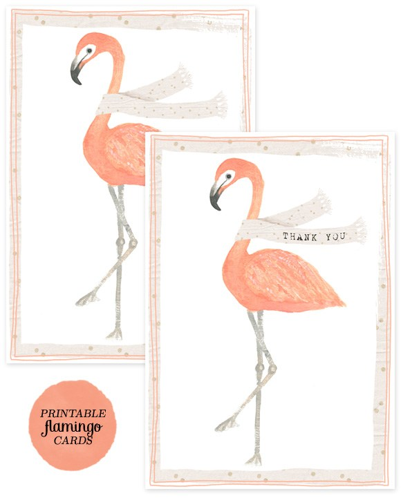Flamingo Thank You Card By Creature Comforts