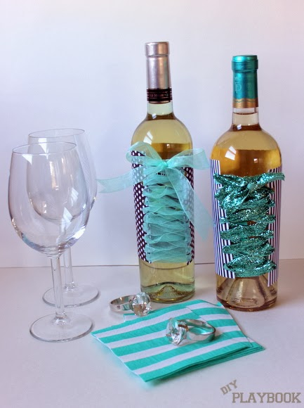 Bachelorette Party Wine Bottles made a great gift. Pick up some nice wine glasses and you are set to party!