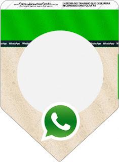 Banderines de WhatsApp para imprimir gratis.