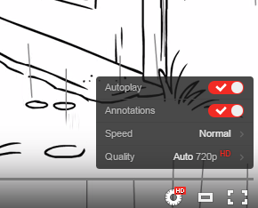 YouTube Lecteur Transparent Options
