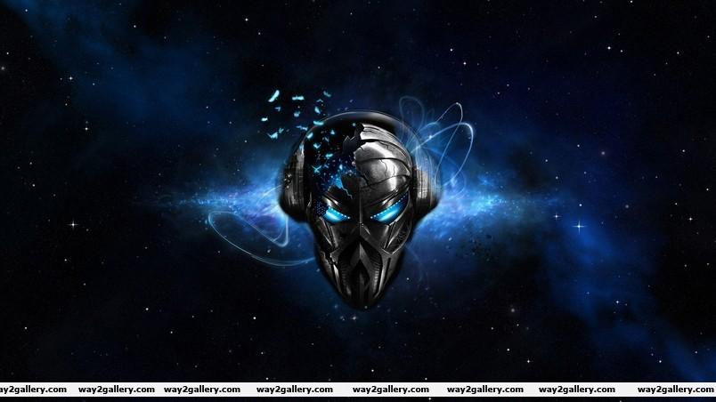 Space robot mask wallpaper
