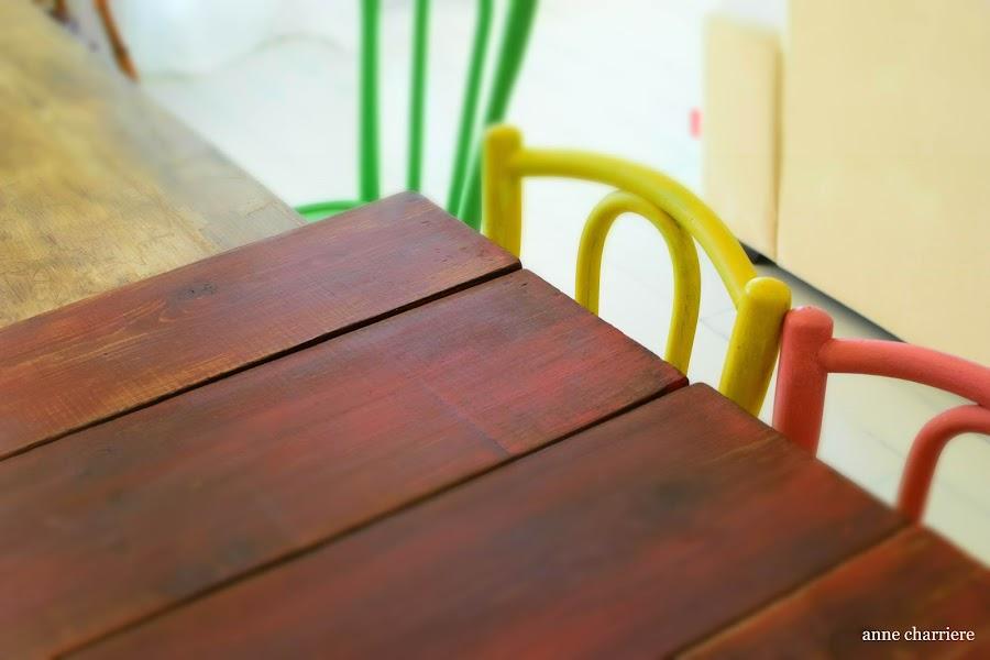 www.annecharriere.com, vigas madera, pintura muebles, atelier danne benahavis,