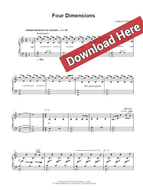 ludovico einaudi, four dimenstions, sheet music, piano notes, chords, download, klavier noten, keyboard, how to play, tutorial, lesson, download, pdf