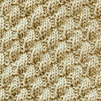 Left Diagonal Rib is a super easy stitch that is great for beginners. The pattern involves only knit and purl stitches in an easy to memorize pattern.