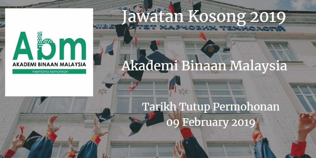 Jawatan Kosong ABM 09 February 2019