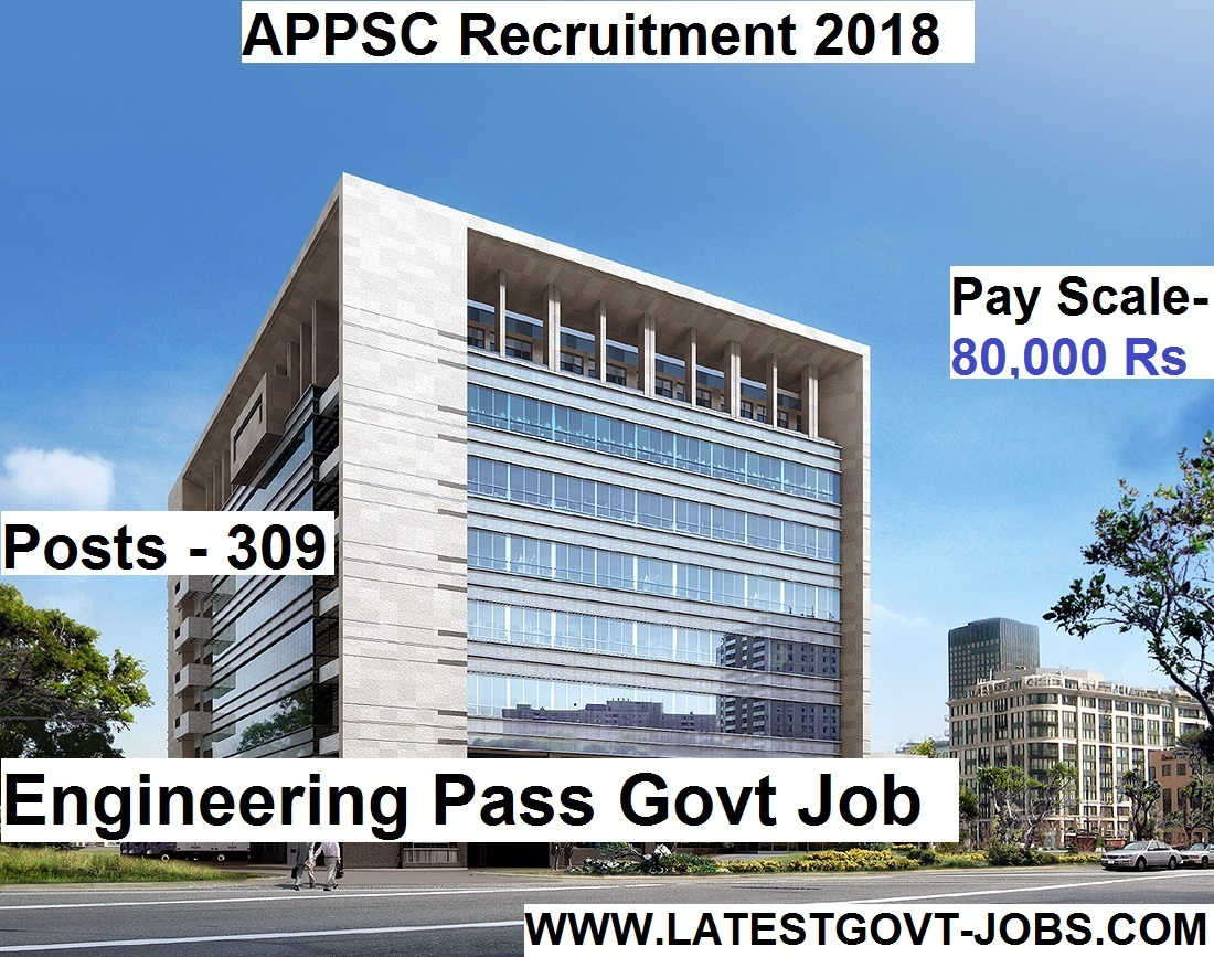 APPSC Recruitment 2018 - 309 Jobs for Engineers | Ass. Executive Post