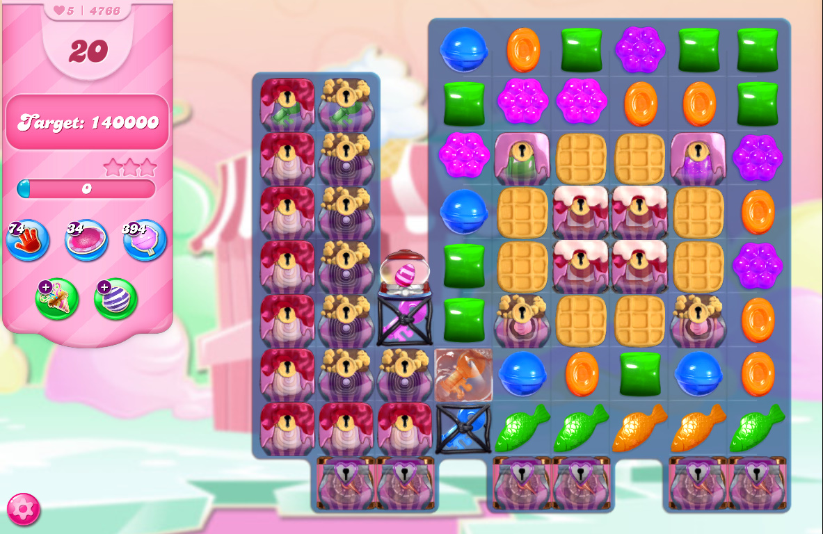 Candy Crush Saga level 4766