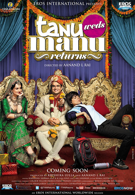 Tanu Weds Manu Returns, movie poster, Directed by Anand Rai, starring R. Madhavan, Kangana Ranaut