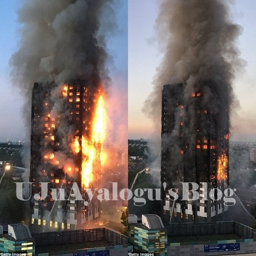 BREAKING News: Huge Inferno Engulfs 27-storey London Residential Tower as Families Remain Trapped Inside (Photos)